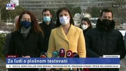 TB predstaviteľov strany Za ľudí o plošnom testovaní
