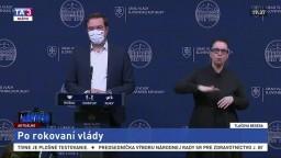TB ministra zdravotníctva M. Krajčího po rokovaní vlády o celoplošnom testovaní
