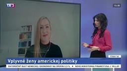 ŠTÚDIO TA3: Politická konzultantka A. Králová o vplyvných ženách politiky v USA