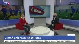 ŠTÚDIO TA3: Futbalový tréner M. Lešický o zimnej príprave futbalistov