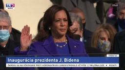 Prísaha novej viceprezidentky USA Kamaly Harrisovej