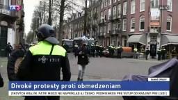 Zastavte lockdown, žiadali v Holandsku. Skončili aj na polícii