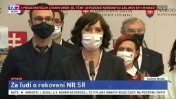 TB predstaviteľov strany Za ľudí o rokovaní národnej rady