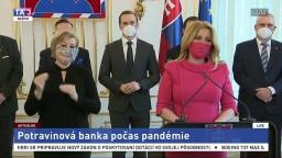 TB prezidentky Z. Čaputovej o pomoci pre potravinovú banku