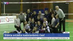 Nadstavbovú časť ovládli volejbalistky Slávie, zdolali Pezinok