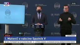 TB predsedu vlády I. Matoviča o vakcíne Sputnik V