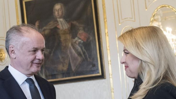 Čaputová prijala v paláci Kisku. Hovorili o dianí na Slovensku