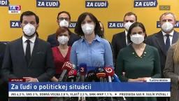 TB strany Za ľudí a jej predsedníčky V. Remišovej o koaličnej kríze