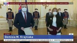 Vyhlásenie Z. Čaputovej po prijatí demisie ministra M. Krajniaka