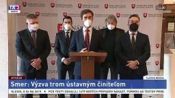 TB predstaviteľov Smeru-SD o výzve trom ústavným činiteľom