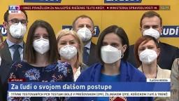 TB strany Za ľudí o koaličnej kríze a demisii ministerky M. Kolíkovej