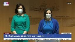 Vyhlásenie bývalej ministerky M. Kolíkovej po podaní demisie
