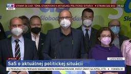 TB strany SaS v reakcii na návrh riešenia koaličnej krízy I. Matoviča