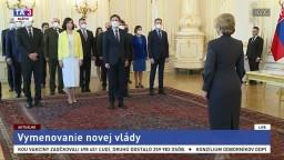 Prezidentka Z. Čaputová vymenovala novú vládu E. Hegera