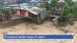 Indonéziu zasiahli prívalové dažde, desiatky ľudí sú nezvestné