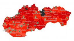 Takto bude vyzerať Slovensko od pondelka. Čierne budú dva okresy