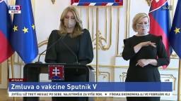 Vyhlásenie prezidentky Z. Čaputovej o vakcíne Sputnik V