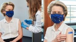 Šéfka eurokomisie sa zaočkovala, dostala vakcínu od Pfizeru