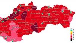 COVID automat: Od pondelka bude už 9 okresov v ružovej farbe