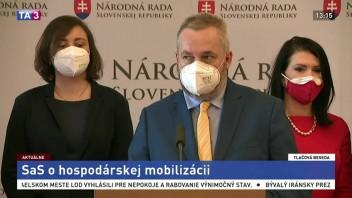 TB predstaviteľov strany SaS o hospodárskej mobilizácii či vakcínach