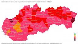 Covid automat: Najviac okresov je v ružovej fáze, štyri sú oranžové
