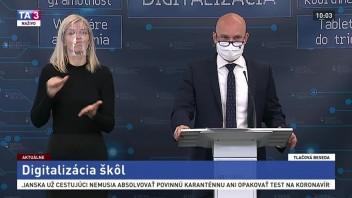 TB ministra školstva B. Gröhlinga o plánovanej digitalizácii škôl