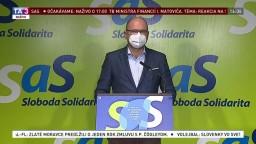 TB ministra R. Sulíka o navyšovaní štátneho rozpočtu