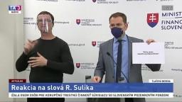 TB ministra I. Matoviča o vyjadreniach R. Sulíka k navyšovaniu rozpočtu