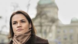 Cichanovská vystúpila na demonštrácii v Prahe: Nech žije Bielorusko