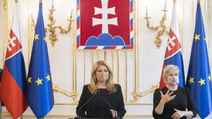 Čaputová v Prezidentskej záhrade privítala poľského i chorvátskeho prezidenta