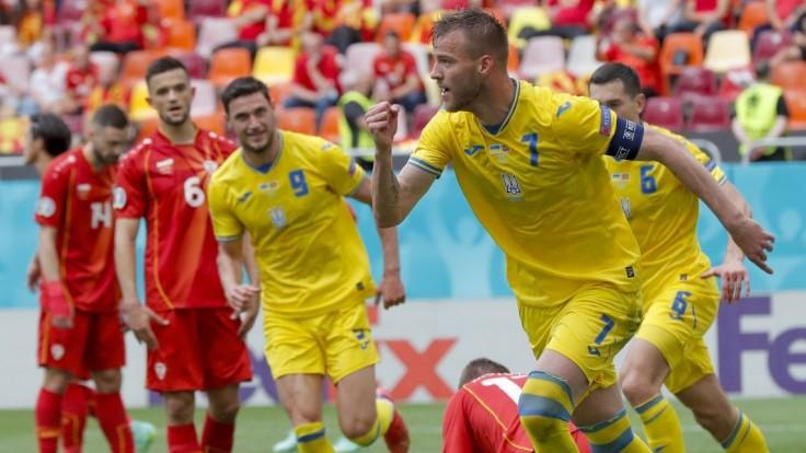 Ukrajina má prvé body. Podarilo sa jej zdolať Severné Macedónsko