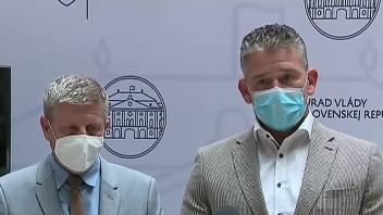 TB R. Mikulca, V. Lengvarského a V. Krčméryho po rokovaní krízového štábu