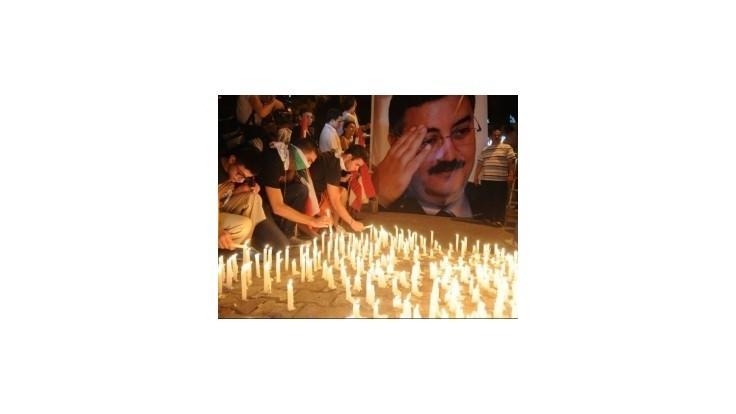 Pohreb zavraždeného predstaviteľa tajnej služby v Bejrúte sprevádzali násilnosti