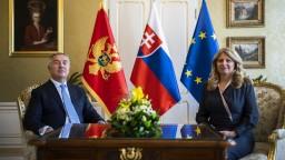 Čaputová prijala prezidenta Čiernej Hory, balkánska krajina má našu podporu