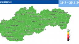 Slovensko je celé zelené. Od pondelka sú všetky okresy v monitoringu