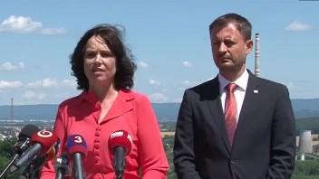 TB premiéra E. Hegera a ministerky V. Remišovej o transformácii Hornej Nitry