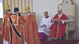 Pápež sa prihovoril veriacim v Prešove: Kresťanstvo bez kríža je svetské