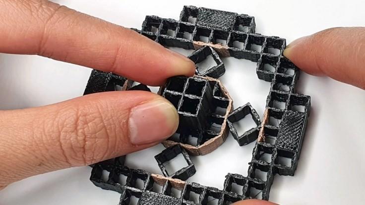 Vedci vytvorili 3D tlačený metamateriál snímajúci silu tlaku
