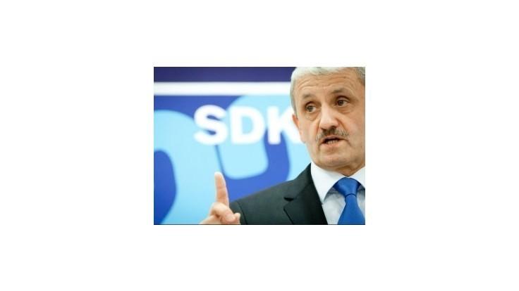 Dzurinda: SDKÚ-DS nerobí poriadne opozičnú politku
