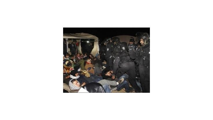 Izraelská polícia odstránila palestínsky tábor v sektore E-1 na Západnom brehu