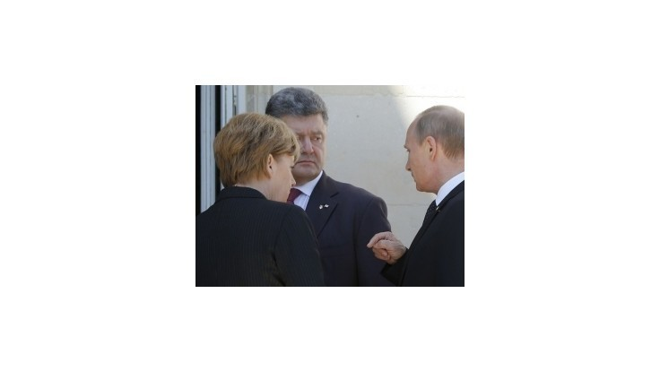 Putin sa v prítomnosti Merkelovej stretol s Porošenkom