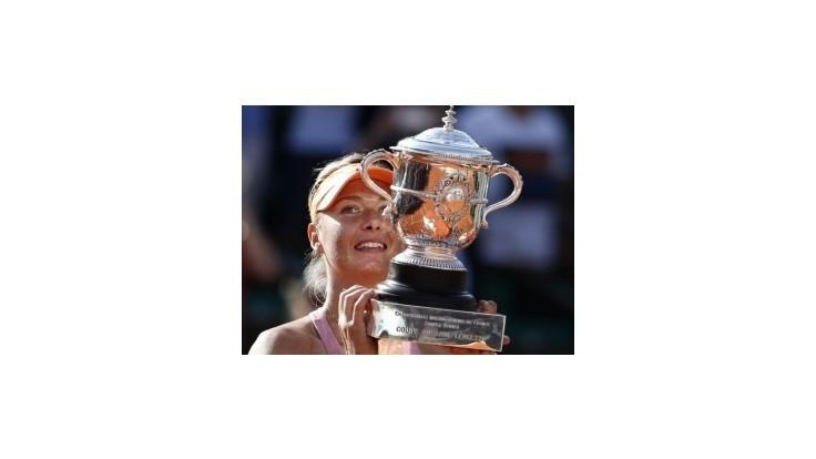 Šarapovová po druhý raz vyhrala Roland Garros