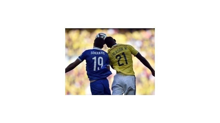 Futbalisti Kolumbie zvíťazili nad Gréckom jednoznačne 3:0