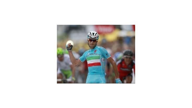 Sagan má zelené tričko, víťazom etapy Nibali