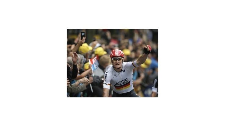 Greipel triumfoval, Sagan spadol, ale udržal si zelený dres