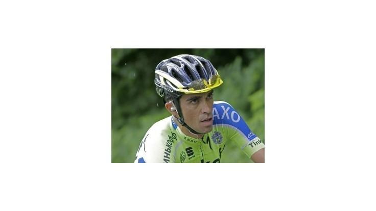 Contador odstúpil z pretekov po páde