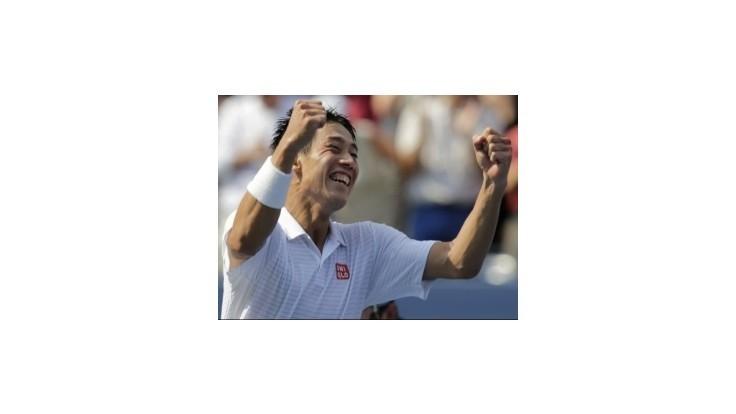 Japonec Nišikori v semifinále US Open vyradil jednotku Djokoviča