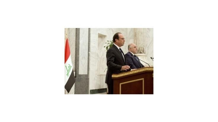 Hollande pricestoval na návštevu Iraku