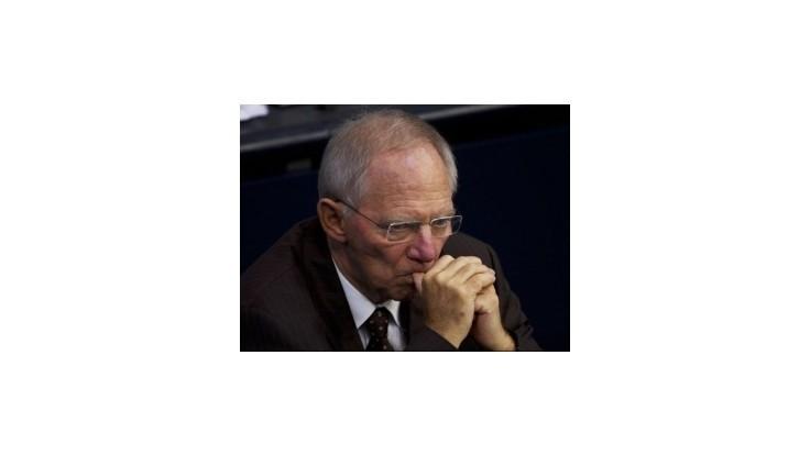 Nemeckého ministra Schäubleho znepokojuje politika centrálnych bánk