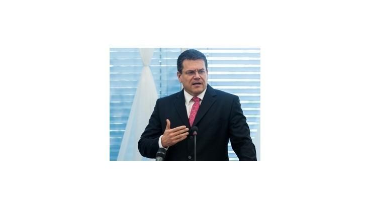 Šefčovič: Začal sa tvoriť projekt európskej energetickej únie